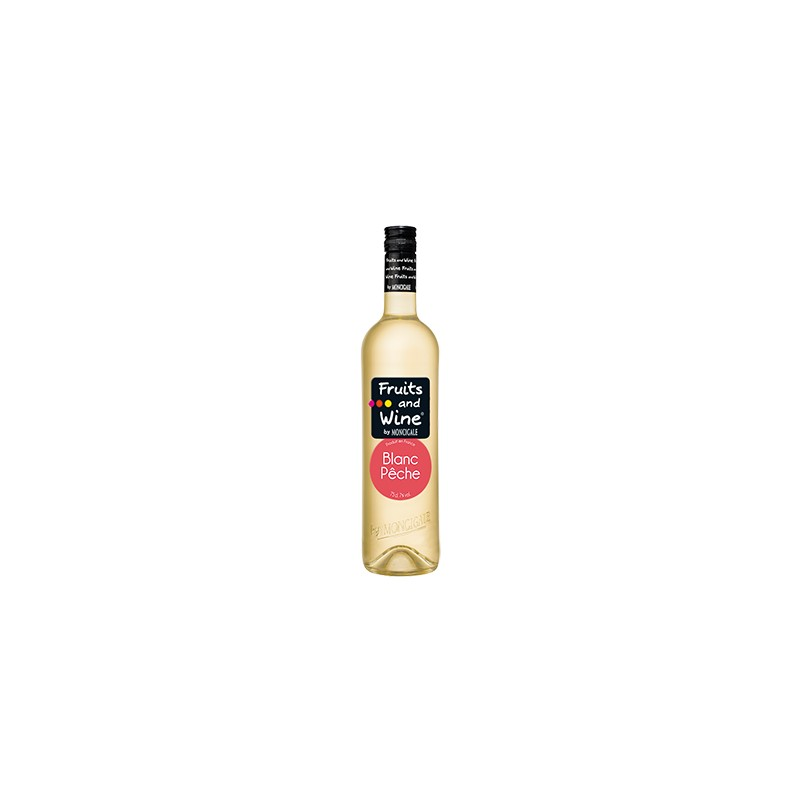 Super vente de Vin Blanc Aromatisé à la Pêche FRUITS AND WINE BY MONCIGALE KS73