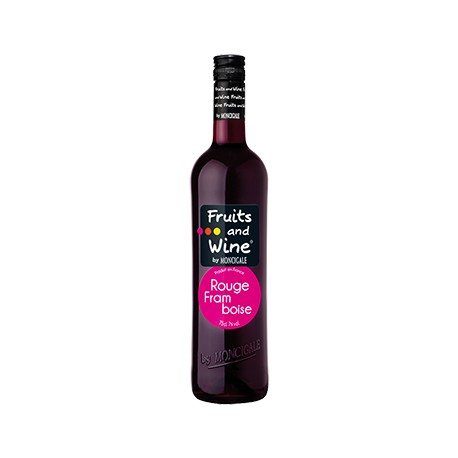 Vin Rouge Aromatisé Framboise FRUITS AND WINE BY MONCIGALE