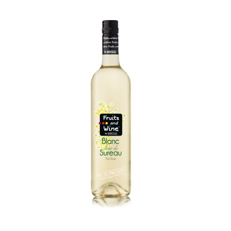 Vin Blanc Aromatisé Fleurs de Sureau FRUITS AND WINE BY MONCIGALE