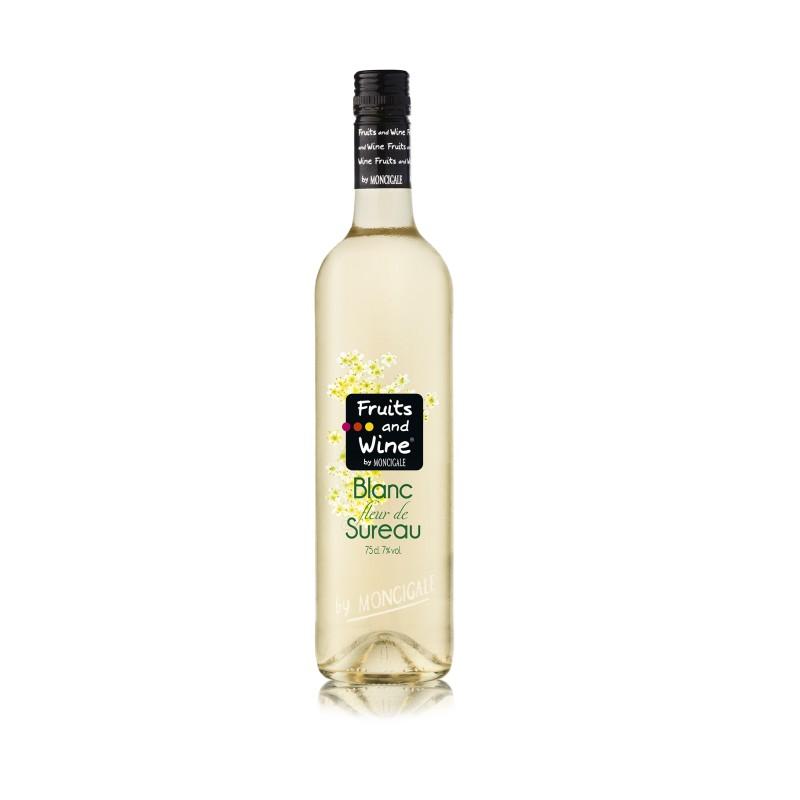 blanc aromatisé fleurs de sureau fruits and winemoncigale