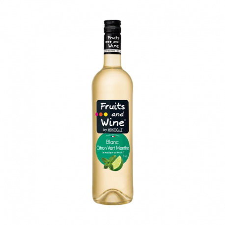 Vin Blanc saveur Citron Vert Menthe FRUITS AND WINE BY MONCIGALE