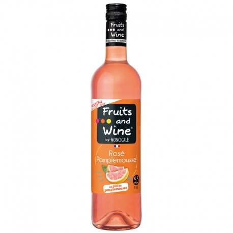 Vin Rosé Aromatisé Pamplemousse FRUITS AND WINE BY MONCIGALE