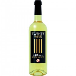 Vin Blanc Aromatisé Pêche Blanche TWENTY WINE