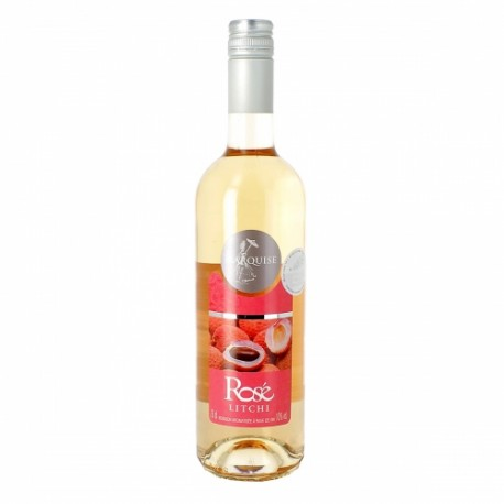 Vin Rosé Aromatisé au Litchi Marquise Drôme Provençale d'Eyguebelle